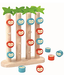 Plan Toys Monkeys In A Row Multicolour - Pack Of 16 Pieces