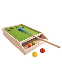 Plan Toys Wooden Ball Shoot Board Game - Multicolour