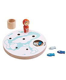 Plan Toys Wooden Fishing Game - Multicolour