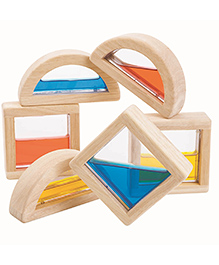 Plan Toys Wooden Water Blocks Multicolour - Pack Of 6