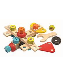 Plan Toys Wooden Construction Set - 40 Pieces