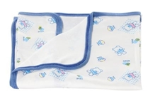 Tinycare Blue Baby Towel With Doll Print