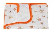 Tiny Care Orange Baby Towel With Doll Print