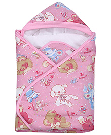 Tiny Care Hooded Wrapper - Light Pink