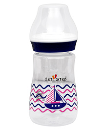 1st Step Feeding Bottle Ship Print Blue - 125 Ml