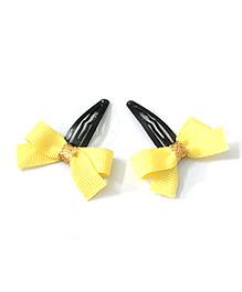 Knotty Ribbons Ribbon Bow Hair Clip - Yellow