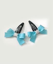Knotty Ribbons Ribbon Bow Hair Clip - Light Blue