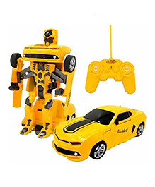 Flyers Bay Remote Controlled Transforming Robot - Yellow