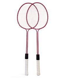 Elan Badminton Double Rod Racket Pink - Pair Of 2