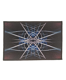 Athom Trendz Premium Digital Printed Anti Slip Door Mat - Brown Blue