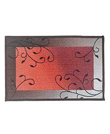Athom Trendz Premium Digital Printed Anti Slip Door Mat - Peach Grey