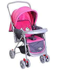 Pink N Grey Upto 36 Months, Three Reclining Position Adjustable Seat With Reversible...