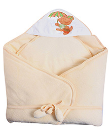 Tinycare Hooded Deluxe Baby Towel with Umbrella Print