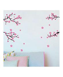 Chippak Floral Theme Wall Sticker - Pink