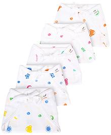 Tinycare Cloth Baby Nappy Comfort Junior Medium - Set of 5