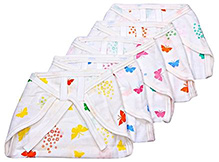 Tinycare Baby Nappy Large Set of 5 Multicolor