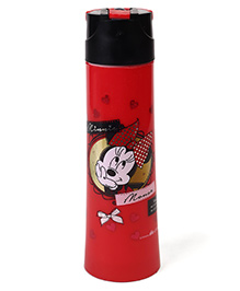 Disney Minnie Mouse Flip Open Insulated Sipper Bottle Red - 500 Ml
