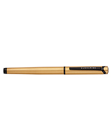 Submarine Designer Ball Pen & Roller Pen Self Design Golden - Set Of 2
