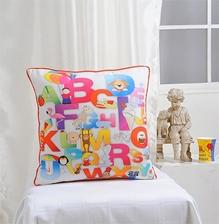 Swayam - Balloon And Alphabet Print Cushion Cover