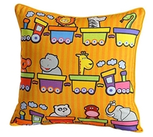 Swayam - Double Train Print Cushion Cover