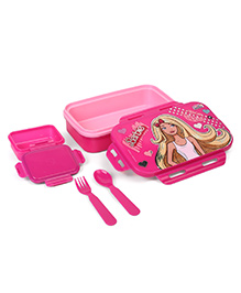 Barbie Insulated Lunch Box With Fork & Spoon - Pink