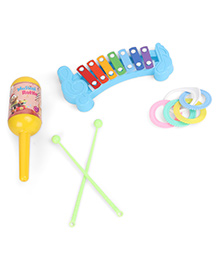 Ratnas Musical Masti Baby Loving Rattle Set (Color And Print May Vary)