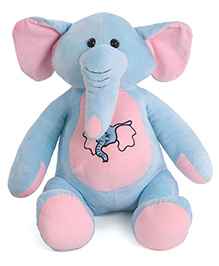 Dimpy Stuff Cute Elephant Soft Toy Sky Blue - Height 46 Cm