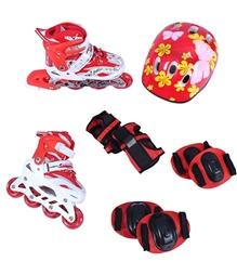 Fab N Funky - Red Printed Skates Set