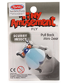 Marbles Scurry Insect Fly Pull Back Toy - Sky Blue