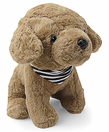Dimpy Stuff Comfy Super Soft Puppy With Muffler Brown - Height 36 Cm