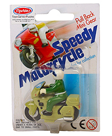 Marbles Pull Back Mini Motorcycle - Green