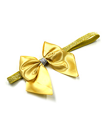 Magic Needles Elastic Headband With Bow - Gold