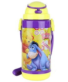 Winnie The Pooh Yellow Sipper Bottle - 600 ML