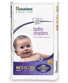Himalaya Herbal Baby Diapers Medium - 28 Pieces