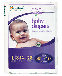 Himalaya Herbal Baby Diapers Large - 28 Pieces
