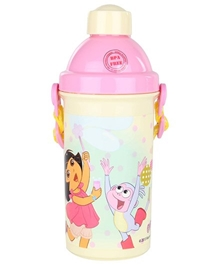 Dora White Pop Up Sipper Bottle - 500 ml