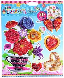 Fab N Funky Flower Pot Print Decorative Sticker - 30.5 X 30.5 Cm