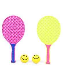 Ratnas Champ Tennis Set- Pink & Yellow