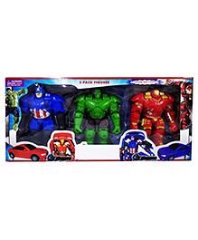 Emob Ultimate Infinity Superpower Hero Action Figure Toys Pack Of 3 - 20 Cm