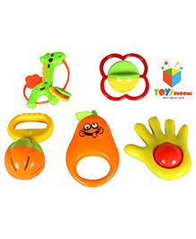 Toys Bhoomi Baby Rattle Set Multicolor - Pack Of 5