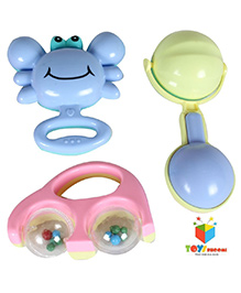 Toys Bhoomi Baby Rattle Set Multicolor - Pack Of 3