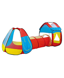 Toys Bhoomi Play Tent Cum Tunnel For Kids - Multicolor