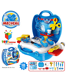 Toys Bhoomi Junior Doctor's Set Blue - Pack Of 18 Pieces