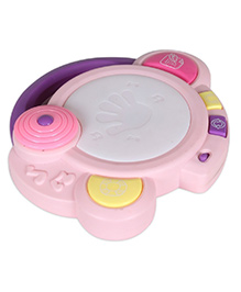 Toys Bhoomi Musical Jazz Drum With Lights & Sound - Pink