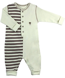 Kushies Baby - Stripes Print Baby Romper