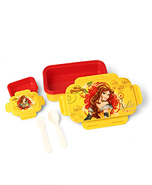 Disney Lunch Box Princess Print - Yellow Red