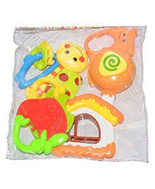 Vibgyor Vibes Rattle & Teether Set Multi Color - Pack Of 5