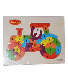 Vibgyor Vibes Wooden Alphabetical Puzzle (Shape May Vary)