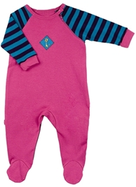 Kushies Baby - Stripes Print Sleeves Romper