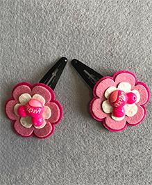 Kalacaree Pair Of Flower Hair Clips - Pink
